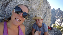 just us and the crags at the top